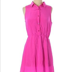 Amanda Uprichard Silk Pink Shirtdress